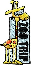 Zoo Trip Fun Patch   Girl Scout Fun Patches   PatchFun.com