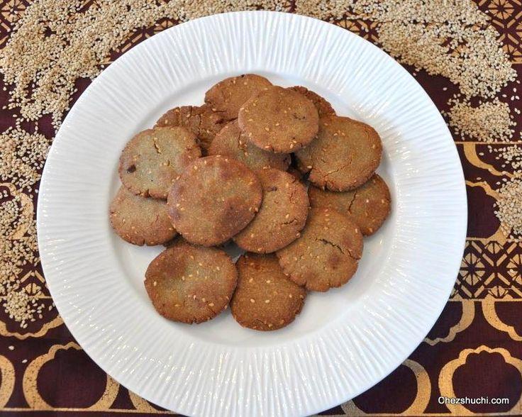 Bajre ki Mithi Poori (Pearl millet sweet bread)! A winter special, traditional Indian sweet. बाजरे और तिल की मीठी पूरी!! माँ की रेसिपी से बनी एक पारंपरिक मिठाई!! http://www.chezshuchi.com/Bajre-Ki-Meethi-Poori-Hindi.html