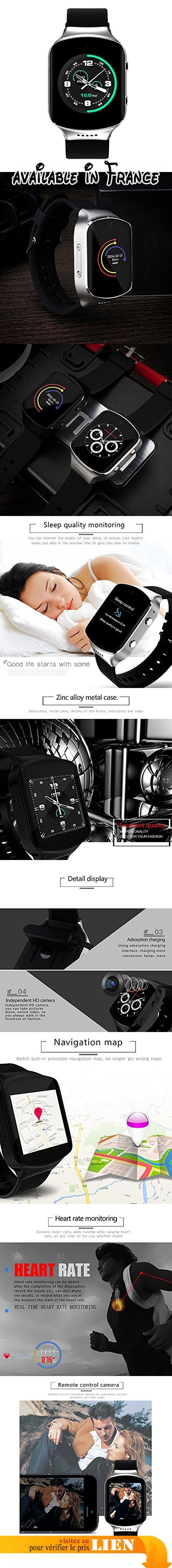 """Docooler Z80S Smartwatch Bluetooth Sportif 3G/2G Montre Téléphone GSM WCDMA MTK6580 1,3 GHz 1,54"""" 2,5 D 320 * 320P Touch Screen 512MB + 4GB Android 5.1 Fréquence Cardiaque SOS GPS Appeler Notification. Ossature métallique / MTK6580 3G WCDMA / Android 5.1 / carte SIM Nano / Bluetooth 4.0 / MP3 / MP4 / Phone Book / cadran / SMS. Appel d'urgence SOS / Position GPS / WiFi / fréquence cardiaque / podomètre / Smart Notification / 200W Pixels appareil photo. CONCEPTION générale"""