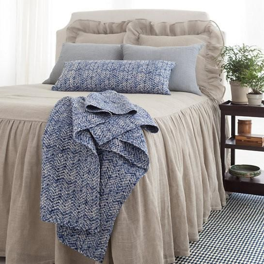 Linen Mesh Bedspread From Pine Cone Hill