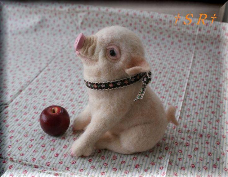 ミニブタの仔  ~羊毛フェルト~ - 一針不乱・一針入魂!! ~SR羊毛フェルト~ - Yahoo!ブログ