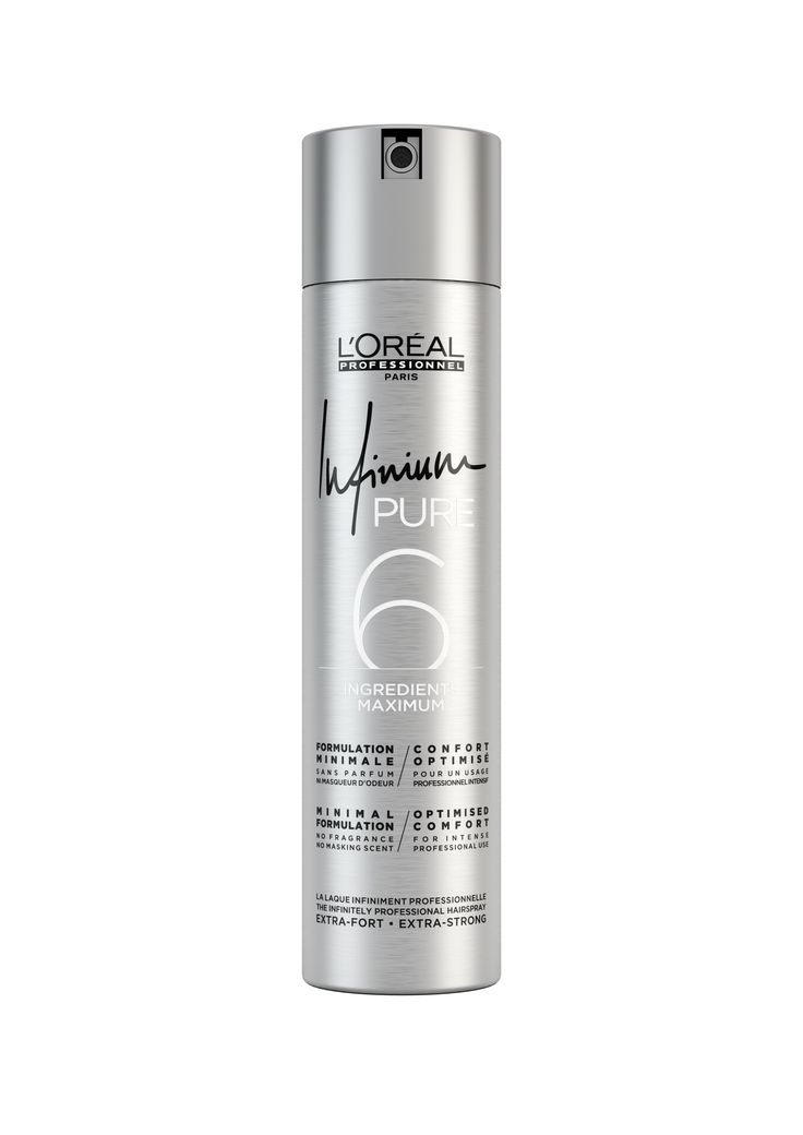 L'Oréal Professionnel Paris Infinium Pure Hairspray Extra Strong.