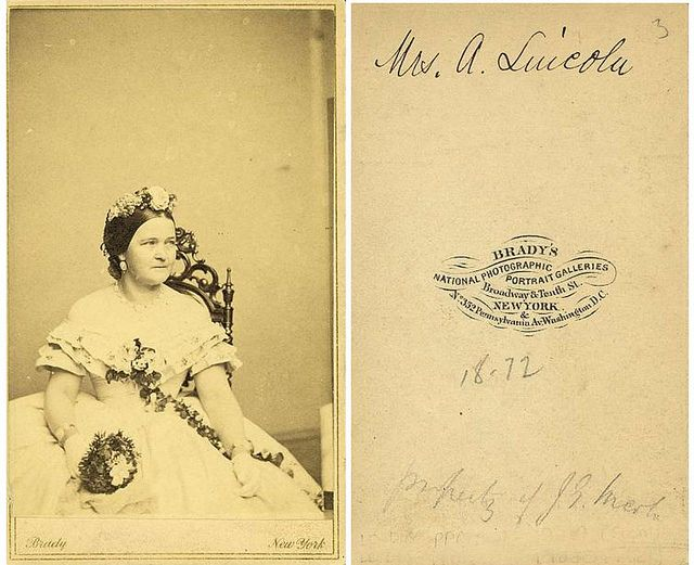Mary Todd Lincoln.  Photographed by Matthew Brady Studio.