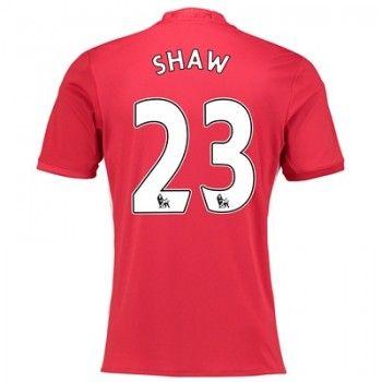 Manchester United 16-17 Luke Shaw 23 Hemmatröja Kortärmad   #Billiga  #fotbollströjor