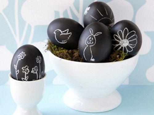Chalkboard Easter Eggs