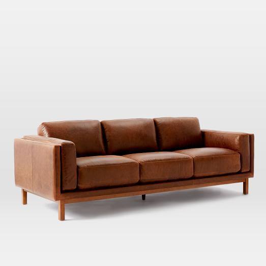 Dekalb Leather Sofa 85 Quot In 2019 Living Room Furniture