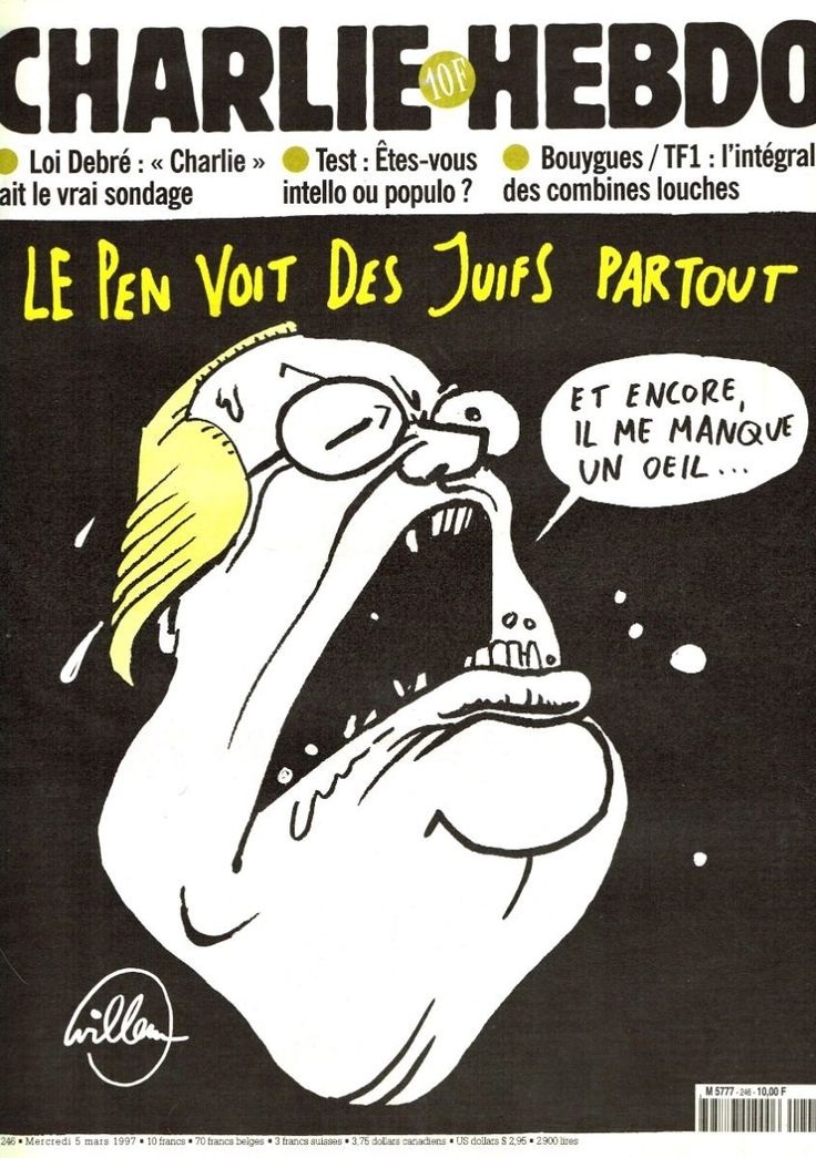 Charlie Hebdo - # 246 - 5 Mars 1997 - Couverture : Willem