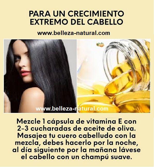 Aceite De Oliva Y Vitamina E Para El Cabello Tips De Belleza Caseros Tips De Belleza Naturales Recetas De Belleza