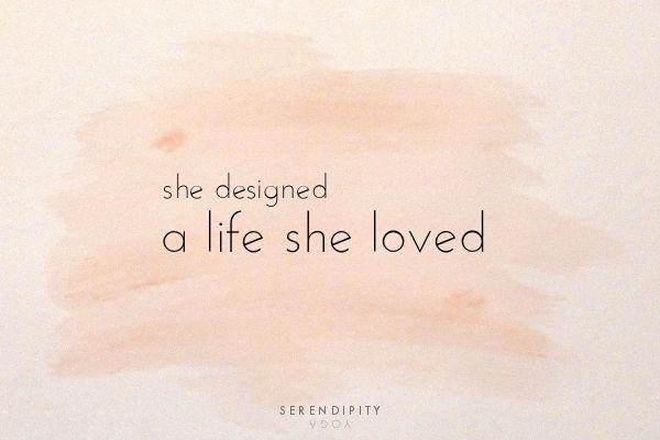 she designed a life she loved // serendipity yoga