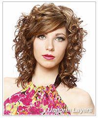 Uniform layered haircut for curly hair