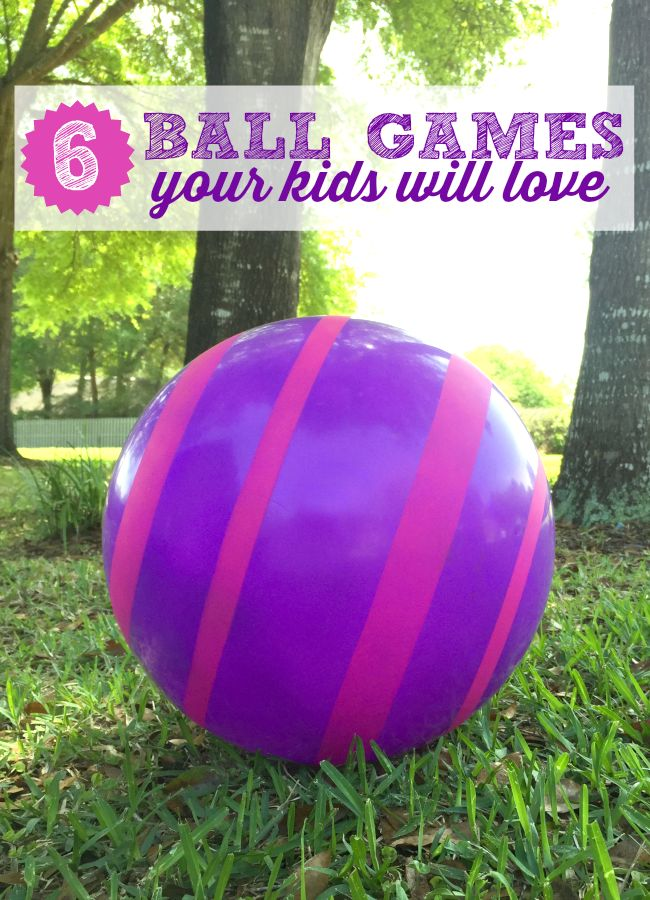 6 Ball Games Your Kids Will Love to Play. Let's get the kids outside moving and having fun this spring with this fun games with ball. theeducatorsspinonit.com