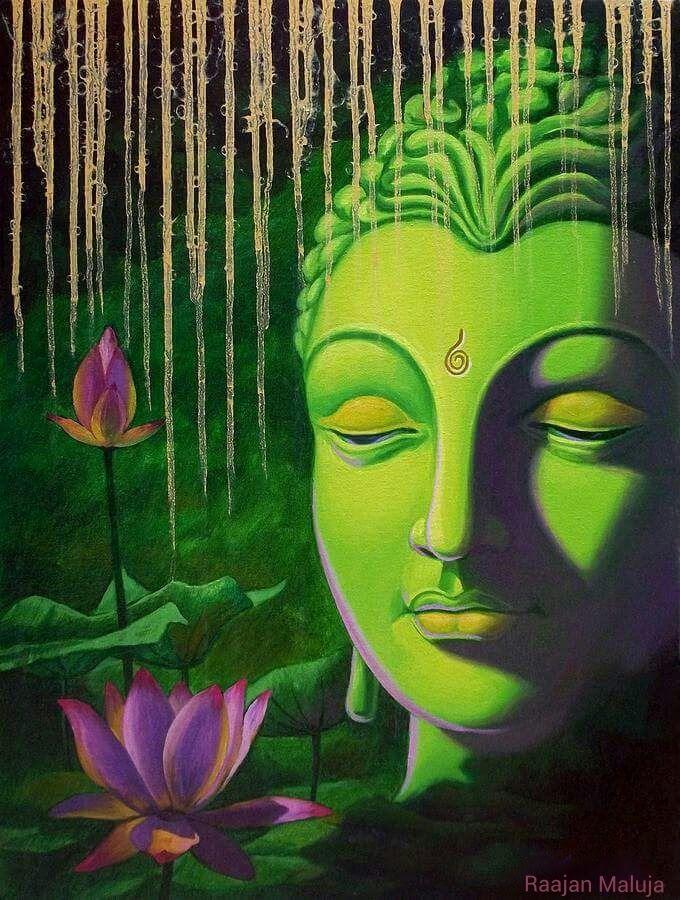 Best 25 buddha art ideas on pinterest for Buddha mural paintings