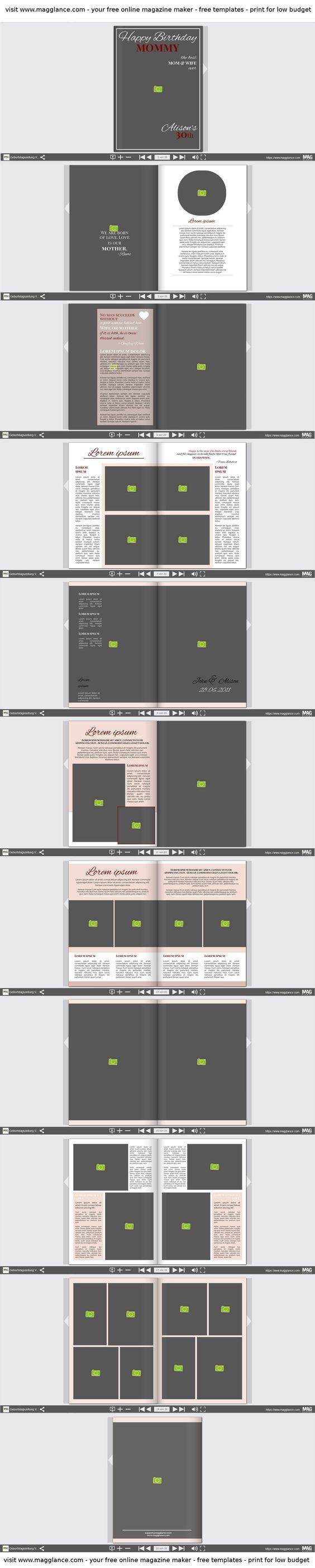 Crea rivista di compleanno gratis online e stampa a un prezzo conveniente su  https://it.magglance.com/rivista-di-compleanno/crea-rivista-di-compleanno #rivista #magazine #rivistadicompleanno  #template #design #modello #esempio #progetta #crea #regalodimatrimonio #layout #idea