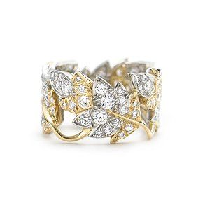 Tiffany's Schlumberger Four Leaves ring in 18k gold with diamonds. Yea next time I come across 12,000 dollars on the street I'll be picking one of these up