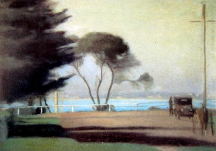 Clarice BECKETT (Australian. (1887 - 1935): Autumn Morning (Early Morning Beaumauris) 1925
