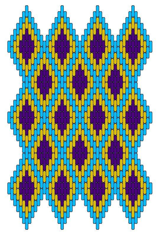 Medieval Arts & Crafts: Brick stitch pattern #6 ..Another I'd like to figure out measurements for a quilt Layout.