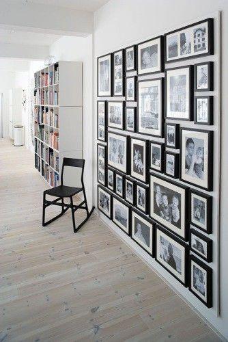 Inspirationen zur Wanddekoration - Wohnzimmer mit Bibliothek