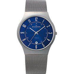 Skagen Titanium Blue Dial Watch
