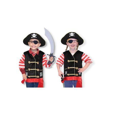"""Melissa & Doug Карнавальный костюм  """"Пират"""", Melissa & Doug  — 2799р.  Дети обожают мультфильмы и перевоплощения! Подарите Вашему ребенку карнавальный костюм """"Пират"""", Melissa & Doug и счастью не будет предела. Моряки и злодеи расступаются, когда на арену выступает Пират! Он смотрит на мир, как и положено пирату, одним глазом, но всегда готов к захватывающим приключениям. Его сабля острая, а пиратская шляпа внушает ужас капитанам торговых судов.  Карнавальный костюм """"Пират"""" прекрасно подойдет…"""