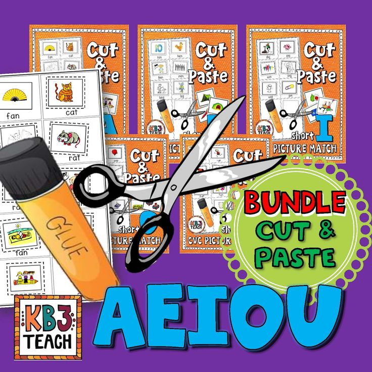 CVC PHONICS BUNDLE (AEIOU):  Cut and paste the pictures into the corresponding text boxes. Use during centers, assign for homework and independent work periods, or use as a skills block activity.