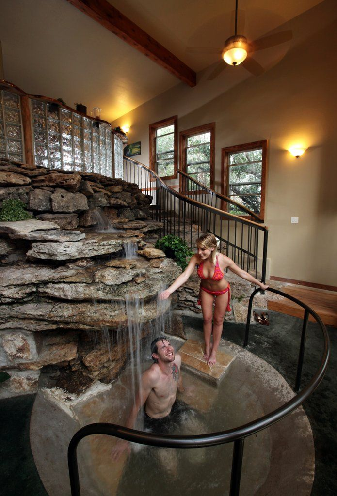 private treehouse, bath house and waterfall?! Yes please