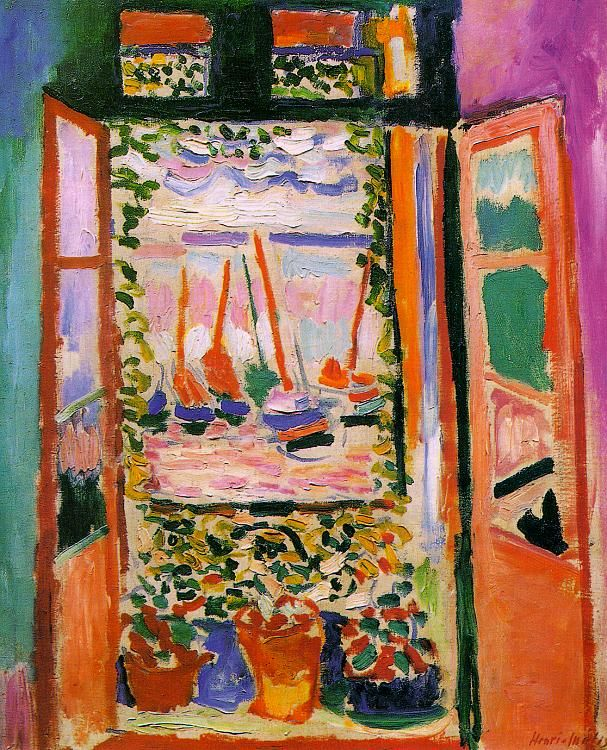 MATISSE, Henri (France, 1869-1954)    (1905, Fenêtre ouverte, Collioure, collection privée, New York)