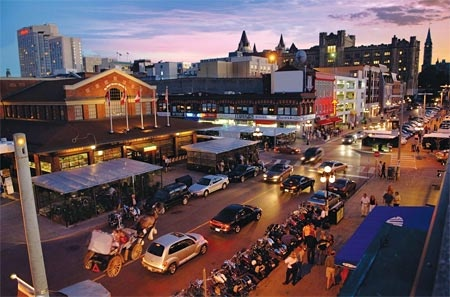 "Byward Market or known just as ""The Market"" downtown Ottawa. Bars, shops, restaurants, site seeing & farmers markets."