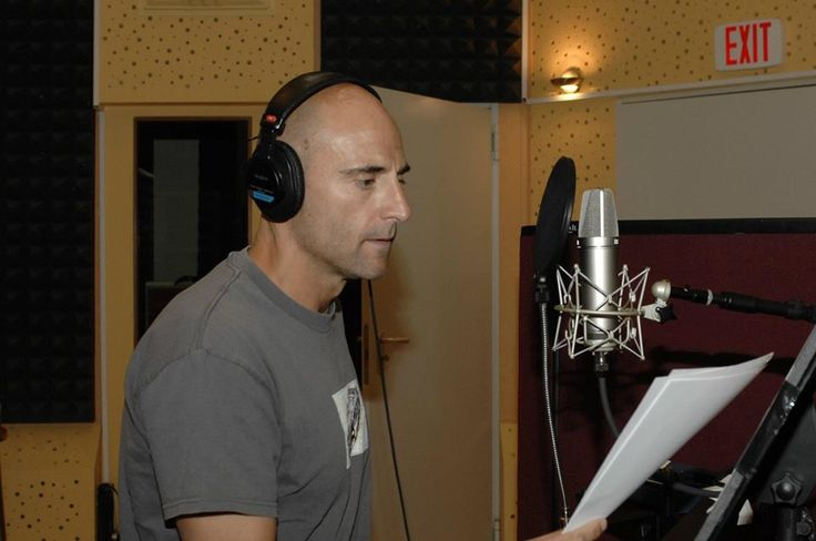 Mark Strong paid us a visit. Voiceover session for Vanity Fair.