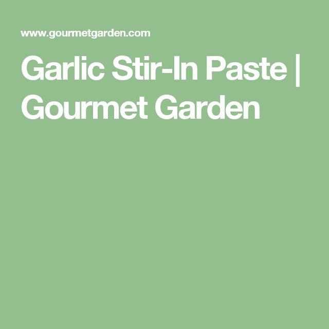 Garlic Stir-In Paste   Gourmet Garden