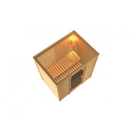 Karibu Sauna Ronja - 38 mm Massivholzsauna - 230 Volt Plug & Play