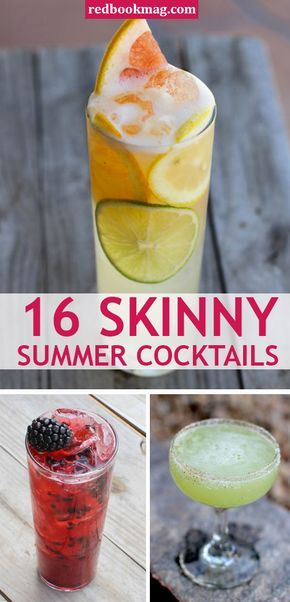 BEST SKINNY COCKTAILS: Learn how to make these delish and healthy drinks with these easy ideas and recipes! You'll find healthier versions of your favorite cocktails including margaritas, mojitos, and sangrias, here! Click through for the fun and tasty recipes from Redbook's Mommy Mixologist, Kim Haasarud.