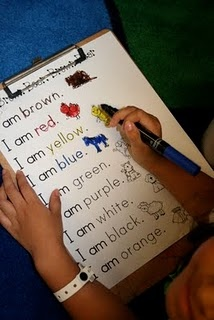 Pocket Chart activity...students could read the sentences first on the pocket chart, then do the worksheet