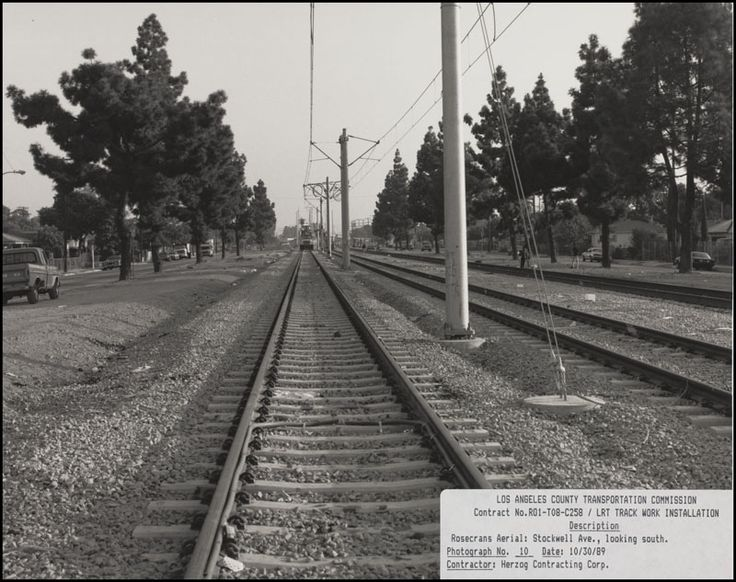 (1989) Light Rail Transit Track Work Installation at Stockwell Ave. Looking South & 81 best Blue Line 25th Anniversary images on Pinterest   25th ... azcodes.com