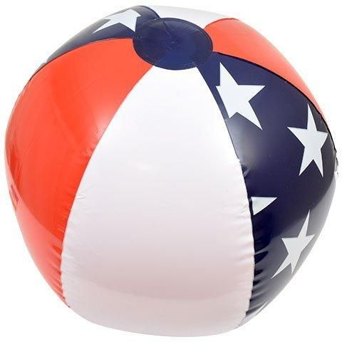 American Patriotic USA Flag United States of America Inflatable Lake Pool Beach Balls 20 in.