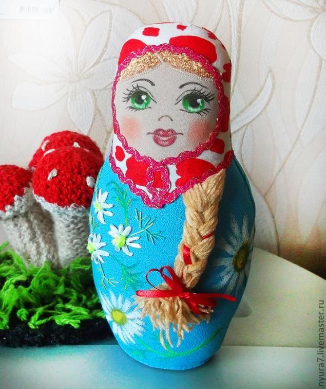 Текстильная Матрешка - Ромашка. - Ярмарка Мастеров - ручная работа, handmade