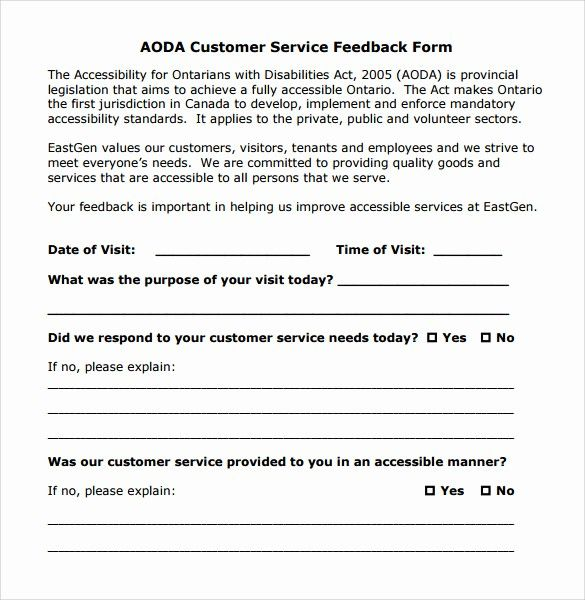 Customer Feedback Form Template Word Awesome 12 Service Feedback Form Templates In 2020 Customer Satisfaction Survey Template Cv Template Word Data Visualization Tools