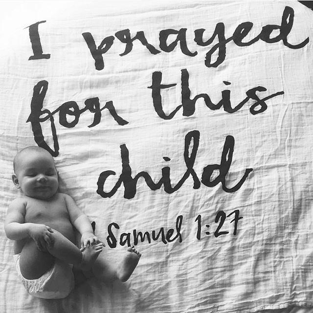 Never underestimate the power of prayer. #answeredprayer #modernburlap #scriptureswaddle