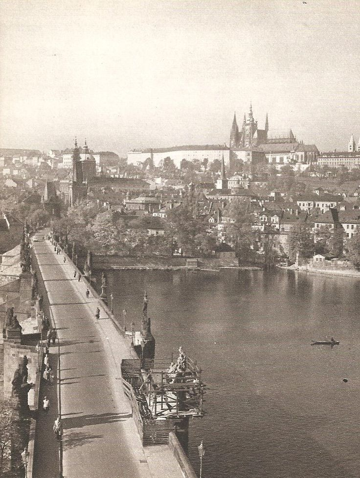 Prague, Charles Bridge by Karel Ješátko, mid 60's
