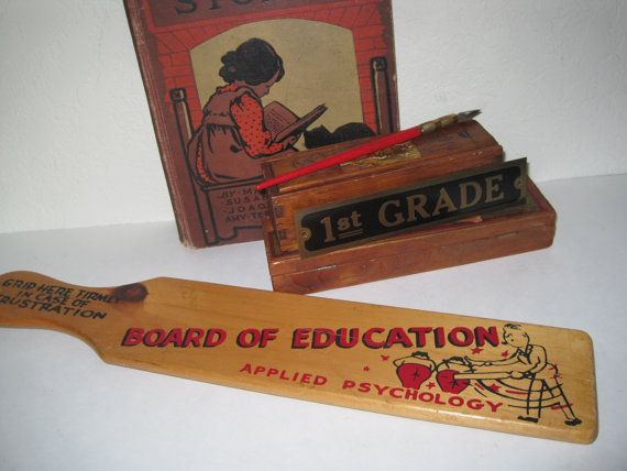 Vintage School Teachers Spanking Paddle Board Of