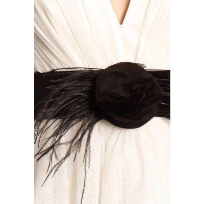 Zetterberg - Feather Silk Belt Black - Kotyr.com