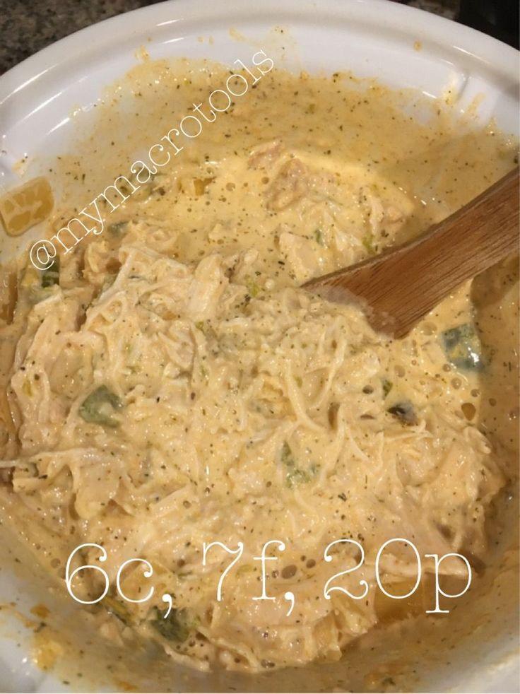 MacroEd Buffalo Chicken Dip; clean, easy, macro-friendly, high protein