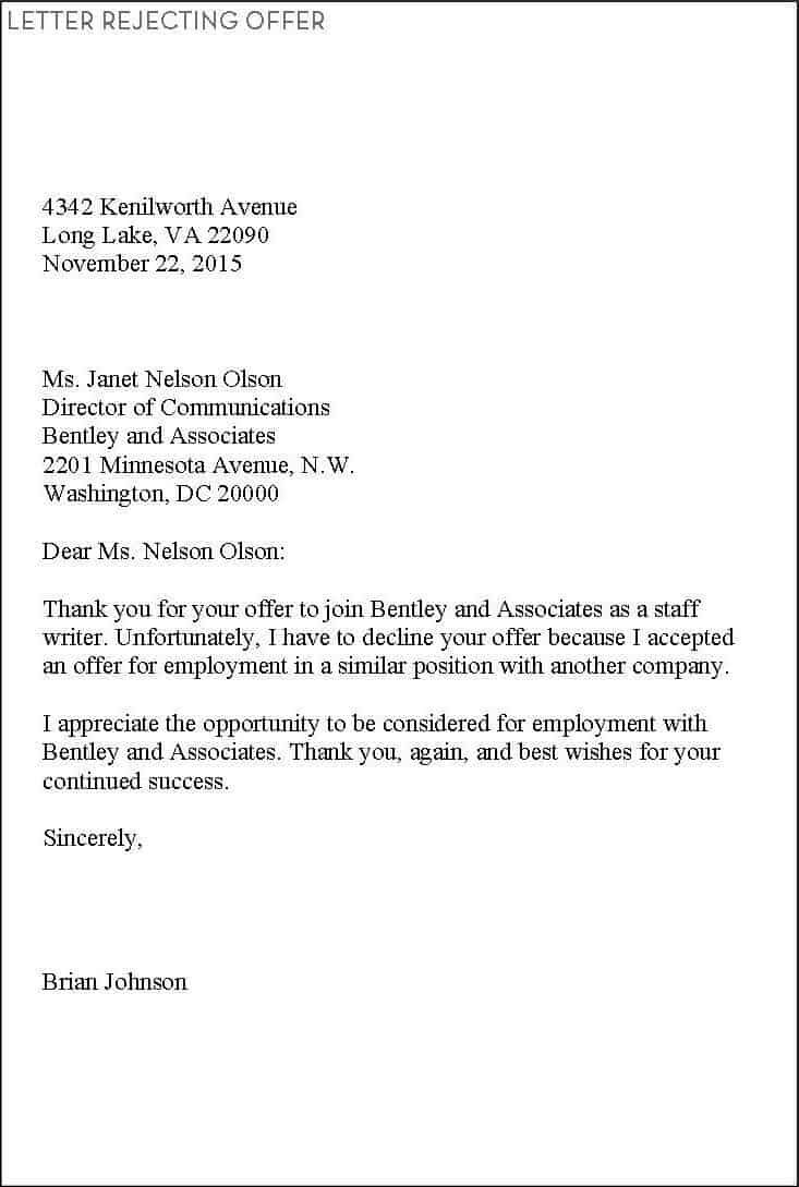 9 rejection letter samples writing letters formats