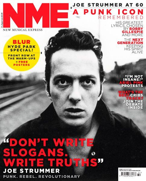 Joe Strummer graces cover of NME