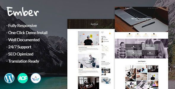 Ember - Digital Marketing Agency WordPress Theme | Stock Fotografia