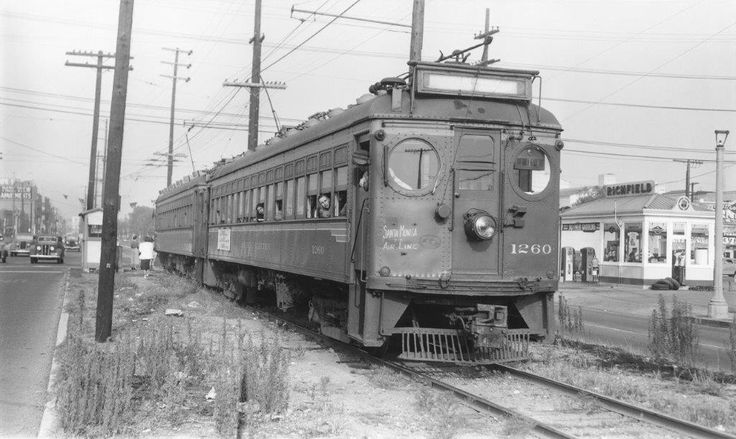 Pacific Electric no. 1260 working the Santa Monica Air Line