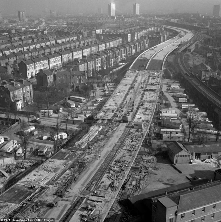 The Westway under construction.