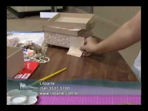 Caixa com Scrapdecor - Passo a Passo 2/2 - YouTube