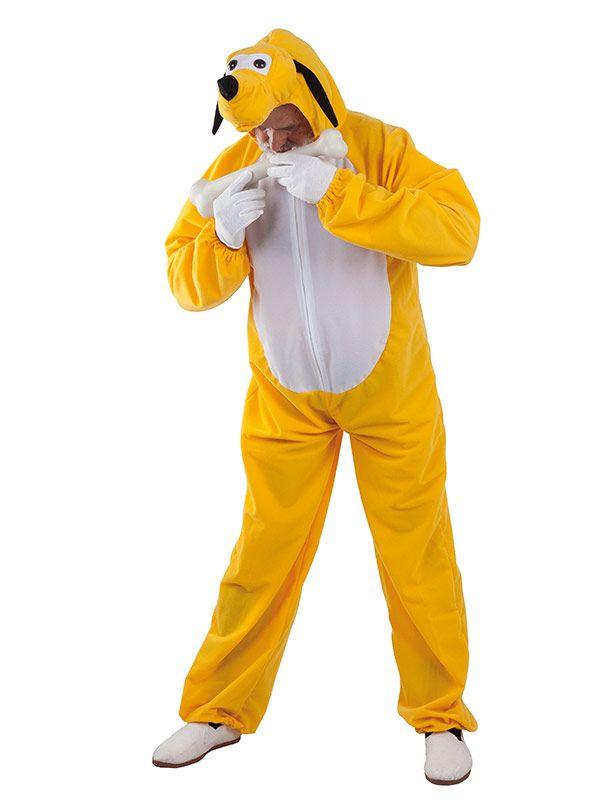 El disfraz de perro pluto adulto, incluye Cabeza y mono en DisfracesMimo.com