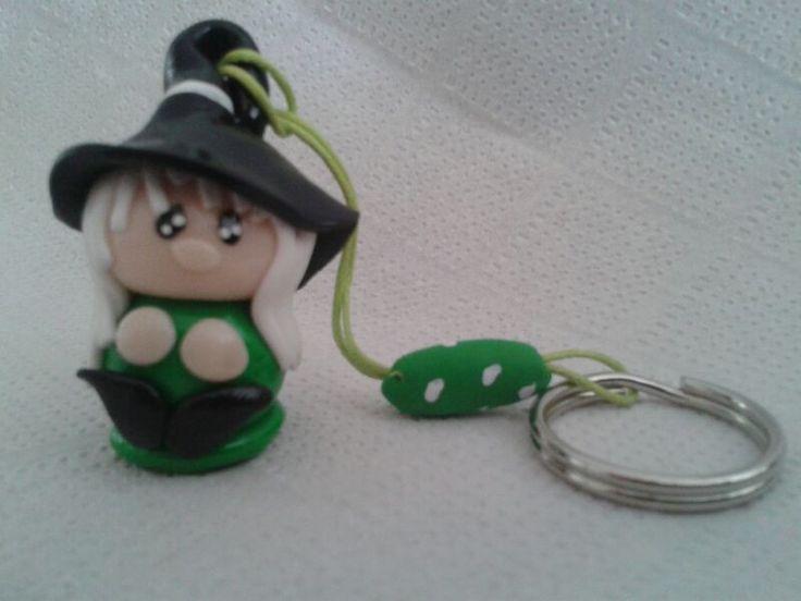 Bruja SanJuanera color Verde. http://birlocha.blogspot.com.es/