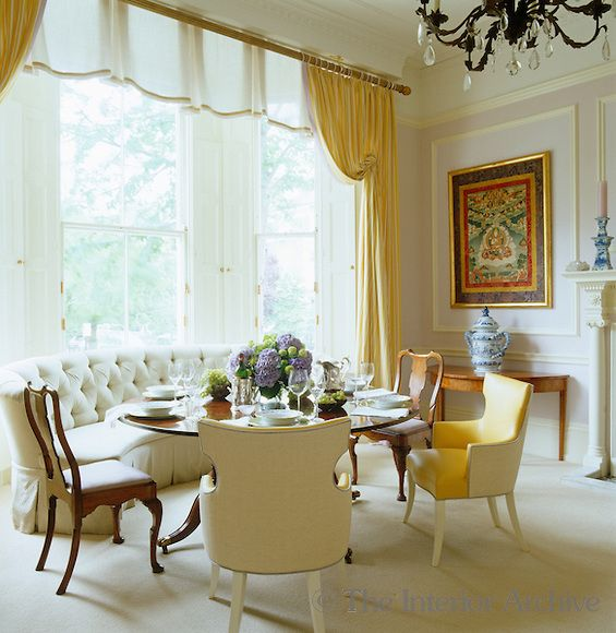 dining room decorating decor ideas elle decor bay windows large
